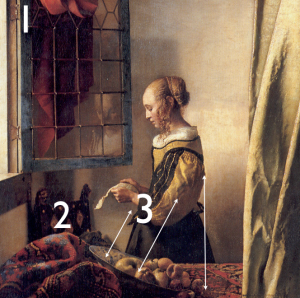 girl reading a letter at an open window reading a letter by an open window johannes vermeer 21954 | imagen 2