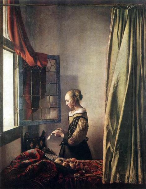 girl reading a letter at an open window reading a letter by an open window 2 johannes 21954 | jan vermeer girl reading a letter at an open window